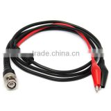 BNC Male Plug Q9 To Dual Alligator Clip Y Splice Oscilloscope Test Probe Cable Lead