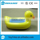 EN71 promotional yellow cute pvc inflatable swimming pool, inflatable baby duck bathtub/baby bath water float pool lounger
