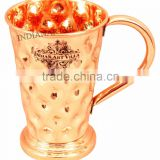 IndianArtVilla Pure Copper Big Daimond Mug Moscow Mule Cup 450 ML - Serving Beer Cocktail Wine Bar Hotel Restaurant Drinkware