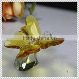 Gold Decorative Crystal Butterfly Figurine For Wedding Decoration