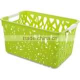 5.5L green small plastic decorative storage pp baskets