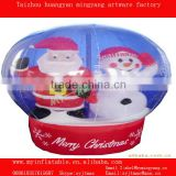 christmas air blown inflatable snow globe