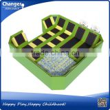 China factory TUV/ASTM/CE certificate free design cheap kids indoor trampoline with safety net