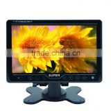 7 inch led tv monitor car monitor tv 12 volt with vga,usb