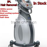 Vertical ipl rf hai removal machine / ipl skin tighten equipment permanent hair removal