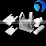 Reach Food Grade Biodegradable Smilety Coffee/Bread Packing Plastic T Shirt Bread Bag Take Away