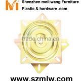 swivel chair revolve sliding base plate fitting