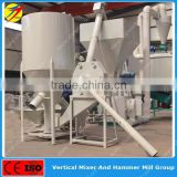 High efficiency vertical type poultry feed mill mixer grinder machine with bottom price from China