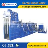 srong power Longmen type plate shearing baler machine to bale steel parings and waste steel
