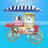 Hot sell multi-function mobile vehicles cotton candy machine popcorn machine with cart,popcorn machine