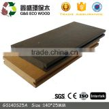 Eco-friendly bamboo plastic composite deck waterproof solid wpc flooring anti-slip wpc decking