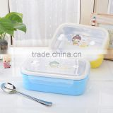 1000ml portable lovely kids stainless steel food warmer with lid