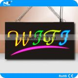 New innovative products acrylic panel led letters alphabet board / led open resin sign board shop mane board design
