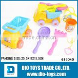 Beach Toy Car With Sand Molds Pail