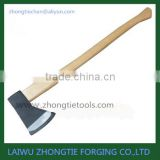 wooden handle broad felling camping pick head