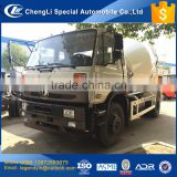 China 2017 good quality concrete mixing truck 6 wheel 6 cubic meters 8 cbm mixing drum capacity cement mixer truck for hot sale
