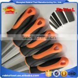 "10"" 5 pcs steel file rasp set bastard cut flat half round curved square triangle semicircle"