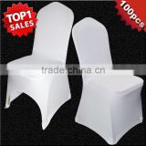 100 PCS Universal White Stretch Polyester Spande Wedding Party Chair Covers for Weddings Banquet Hotel Decoration Decor