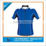 Mens fashion Blue bike jersey with rear patch pockets