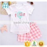 summer cotton baby clothing one set OEM service girls simple baby bedding set