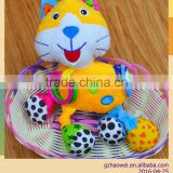Colorful shaking Plush toys baby educational stuffed & plush toy baby bed hanging toy