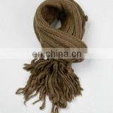 Wool winter knitted scarf
