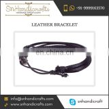 Wholesale Exporter Selling Handmade Trendy Leather Bracelet for Purchasing in Large Volumes