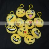 wholesale embroidered emoticons keychain plush emoji keychain