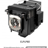 Original Projector Lamp Mercury bulb with housing For Epson Eb-585wi Projector (ELPLP80)