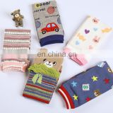 Cartoon Leg Warmers Kneepads Warm Cotton Socks 3D Bear Boys Girls Toddler Striped Socks 0-5yrs Baby Children