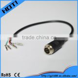 4 pin din aviation connector car camera pigtail cable