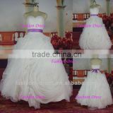Gorgeous New Ball Gown Organza Ruffled Real Sample Wedding Dress