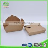High quality chinese lunch containers kraft disposable brown take away food paper box                                                                         Quality Choice                                                                     Supplier's