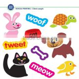 Cat Dog Rabbit Bird Animals Removable Wall Stickers Decals Decor kids nursery mural