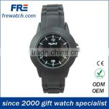 black rubber wrist watch with alloy case and stainless steel buckle