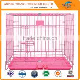 "Large 48"" Folding Pet Dog Cat Crate Cage Kennel With Plastic Tray"