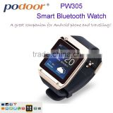 China 2014 Podoor high technology PW305 bluetooth Smart Watch with compete price wholesale Android phone