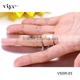 Value manufacturers wholesale 925 sterling silver cz design diamond ring with PVD plating