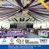 Luxury wedding tent for sale decorate beautiful curtain wedding tent strudy aluminum structure recycle use with long time