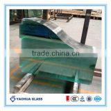 Curved/bent Tempered Glass for curtain wall, ice rink fence 8mm,10mm,12mm (EN12150 AS/NZS2208)