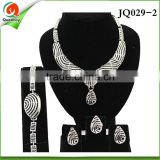JQ029-2 african diamond necklace sets indian jewelry set wedding with jewellery jewelry-indian guangzhou head-fashion fabric f
