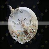 hot selling 3D Embossed Wall Design home decor wall clock