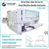 Color Printing 6 Lanes Facial Tissue Paper Machinery Machine
