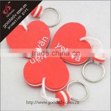 China Supplier Wholesale custom plastic EVA key chain