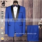 latest top brand men's tuxedo slim fit 2 piece wedding design royal grey blue white black coat pant men suit