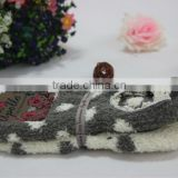 Footwear Bluck Wholesale Anti Slip Slippers Ladies Winter cozy socks Foot Warmer Plain Cotton Drag Custom Floor Socks