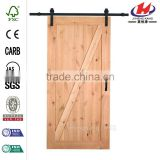 36 in. x 84 in. Knotty Alder Interior Barn Door Slab with Sliding Door Hardware Kit