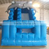 High Quality Cheap Backyard Inflatable Dolphin Water Slide For Family Use