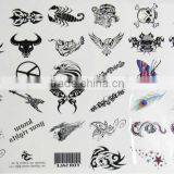 promotional tattoo stencil sticker , body temporary tattoo sticker