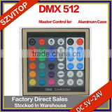 Aluminum Case DMX 512 Master Controller LED Light Strip Without SD Card DC5V,24V                                                                         Quality Choice